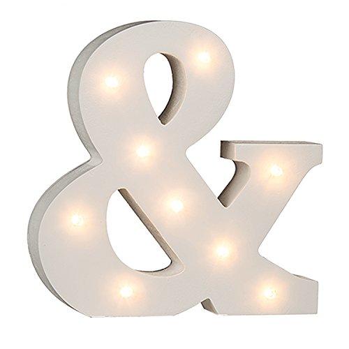 Beleuchtete Buchstaben (A - Z) mit 8 LED-Birnchen, weiß, ca. 16 cm Höhe (&)