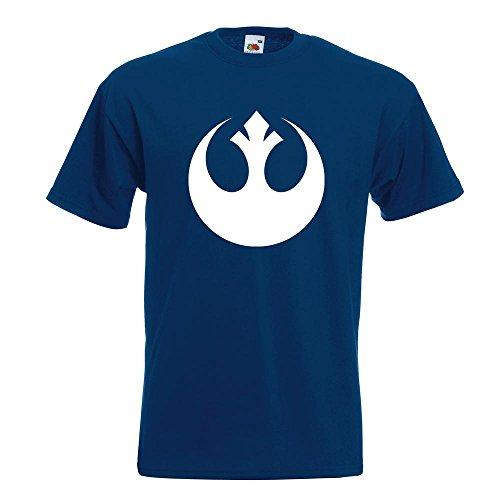 Kiwistar Rebellen-Allianz / Jedi T-Shirt in 15 verschiedenen Farben Herren Funshirt bedruckt Design Sprüche Spruch Motive Oberteil Baumwolle Print Größe S M L XL XXL Navy