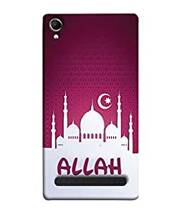 PrintVisa Designer Back Case Cover for Intex Aqua Power Plus :: Intex Aqua Power + (Allah Star Moon Bhagwan God Muslim Ameen Lord Spritual)