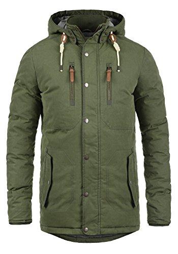 SOLID Dry Jacque Herren Parka lange Winterjacke Mantel mit Kapuze aus  hochwertiger Baumwollmischung, Größe  e157751927