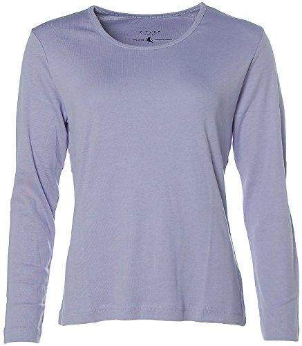 Kitaro Damen Basic Langarm-Shirt Lavendel