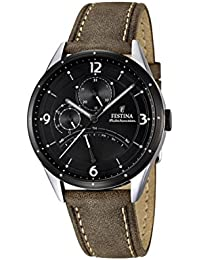 Festina Herren-Armbanduhr RETRO Analog Quarz Leder F16848-1