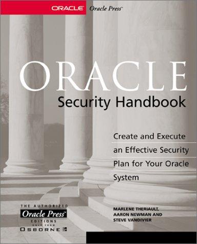 Oracle Security Handbook (Oracle Press server/tools) por Marlene Theriault