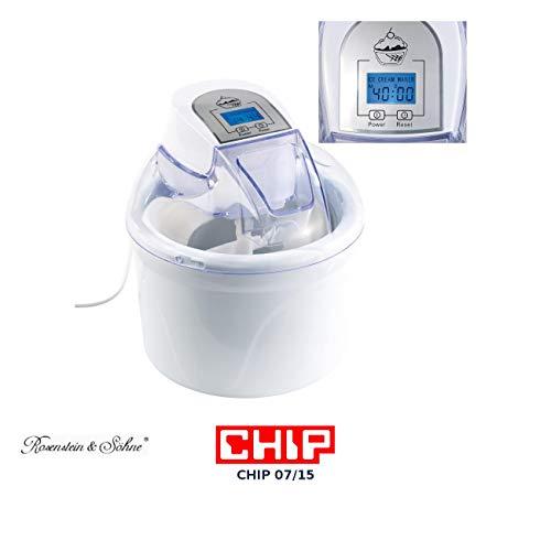Rosenstein & Söhne Speiseeisbereiter: 4in1-Eismaschine EMA-300 mit LCD-Display, für 1,5 Liter Speiseeis, 7 W (Eismaker)