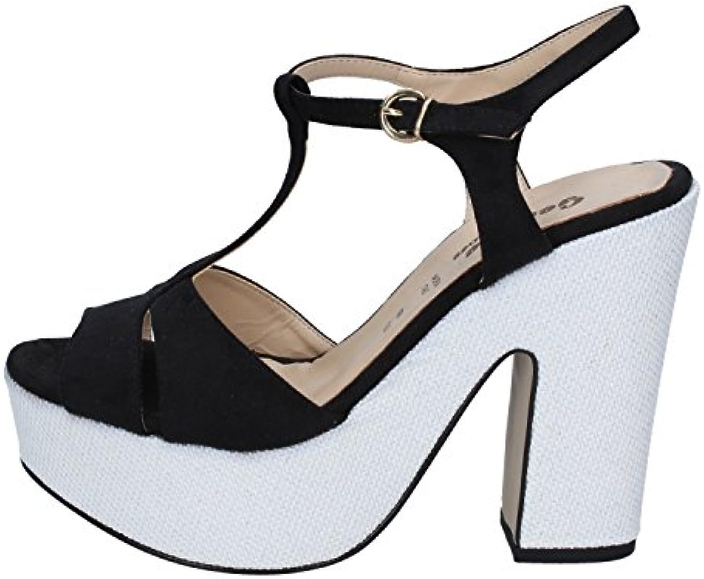 GENEVE scarpe Sandali Donna Pelle Scamosciata Scamosciata Scamosciata Nero   Liquidazione    Uomo/Donne Scarpa  54747b
