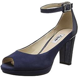 Clarks Damen Kendra Ella Pumps, Blau (Navy Combi), 40 EU