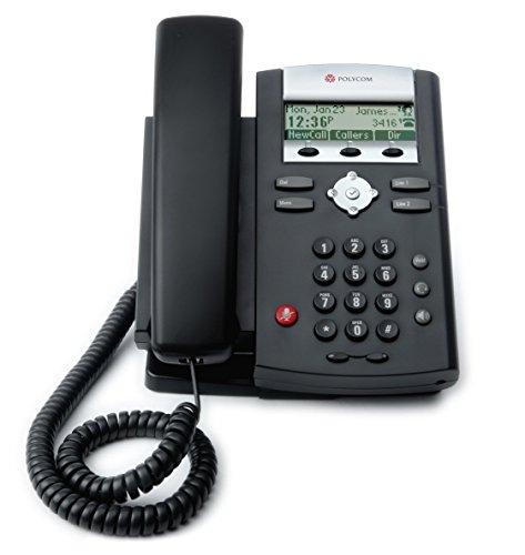 Polycom 2200-12365-025 Desktop Telefon VoIP SoundPoint IP331 schwarz