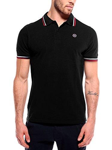 WOLDO Athletic Poloshirt Herren Polohemd Polo Hemd Shirt kurzarm (L, schwarz) (Kurzarm-shorts Lacoste)