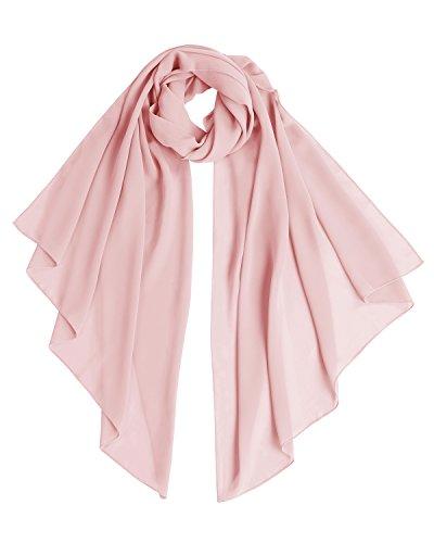 Bridesmay Chiffon Stola Schal für Hochzeit in verschiedenen Farben Blush L 200cm*75cm