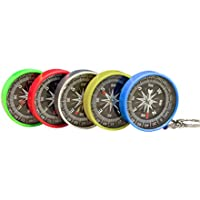 Zhi Jin Plastic Pocket Sighting Compass Direction Lensatic Compass Handheld 45mm for Hunting Camping Hiking Pack of 8