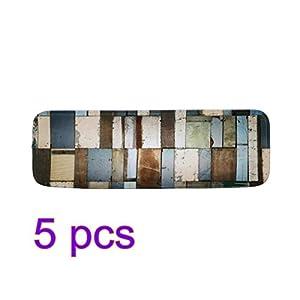 Vorcool Antirutschmatte mit Klebeband und Gummi-Unterlage, 5 Stück