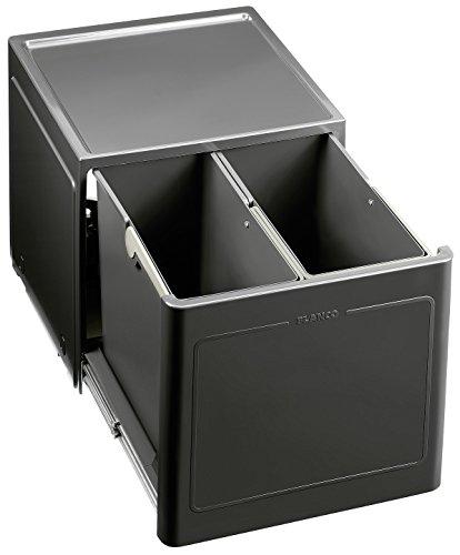 Blanco 517467 Botton Pro 45/2 Manuell Abfallsystem, Kunststoff, schwarz, 40 x 37,5 x 35 cm