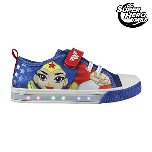 Cerdá Zapatillas loneta con Luz Wonder Woman Super Hero Girls DC T.28