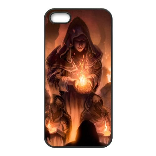 Dark Souls coque iPhone 5 5S Housse téléphone Noir de couverture de cas coque EBDXJKNBO15257