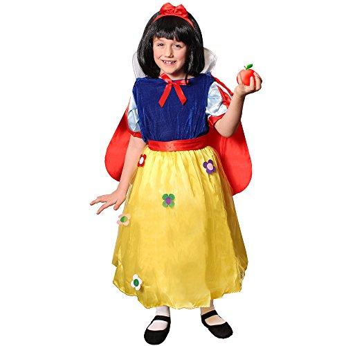 ILOVEFANCYDRESS Kinder Schneewittchen+BÖSE Hexe MÄRCHEN KOSTÜME Verkleidung =MÄRCHEN-Fasching -Karneval -BUCHWOCHE=PRINSESSIN-Kleid+Cape+Haarband = BÖSE Hexe -Kleid +Hut+Make up=PRINSESSIN ()