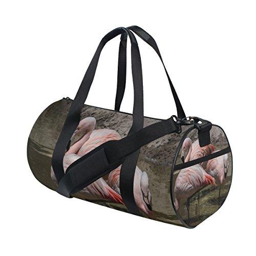 COOSUN Flamingos Duffle Tasche Schulter Handy-Sport Gym-Taschen für Männer und Frauen Mittel Mehrfarben