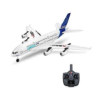 Zantec WLTOYS A120-A380 Airbus 510mm Spannweite 2,4 GHz 3CH RC-Flugzeug Starrflügel RTF mit Fernbedienungs-Skala für Modus-2-Modus