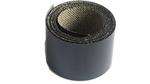 1x auf Einfassung Satin schwarz 50MM X 2,5m Rolle von Eisen vorverklebtem Randstreifen