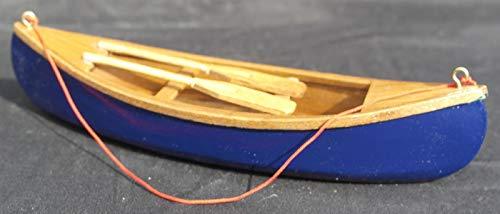 Kanu mit Paddeln, aus Holz, Blau -