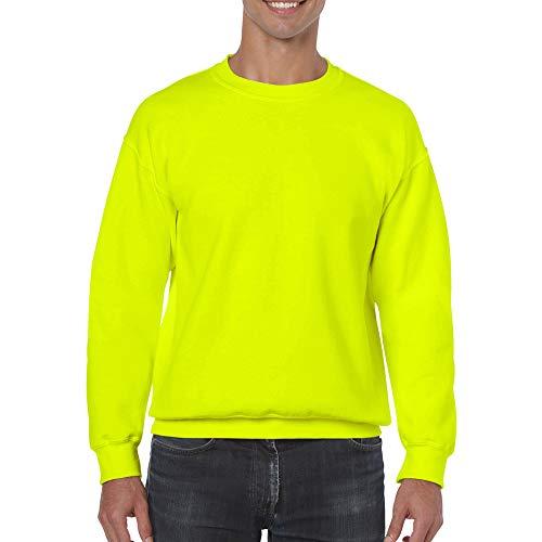 Gildan Heavy Blend Sweatshirt mit Rundhalsausschnitt M,Neongelb