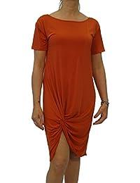 Exclusivo vestido de mujer con mangas cortas