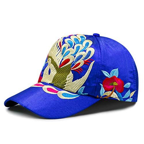 GUOSH Hut Damen Lässige Baseball Mütze Farbe Stickerei Druck Kappe Weiblich Literarisch Retro Sonnenhut Stil 2 56-60Cm