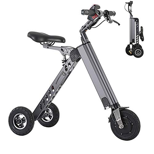 Wheel-hy Mini Elektroroller Scooter, Tricycle Foldable, 250W 36V 7.2Ah, Portable Electric Bicycle