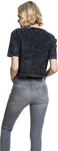 Urban Classic Damen T-Shirt Ladies Random Wash Short Oversize Tee Grau (Darkgrey 94)