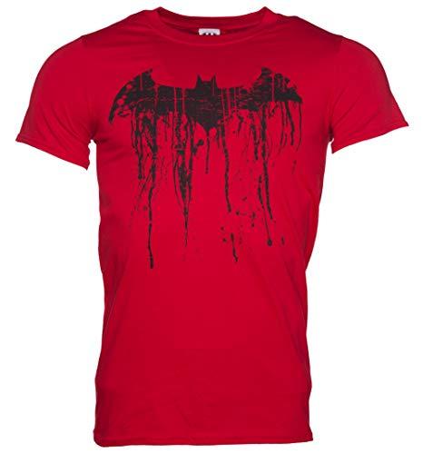 Graffiti Logo T-shirt (Batman Graffiti Logo Herren T Shirt Rot)