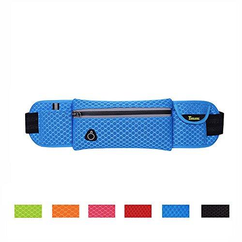 Running Gürtel, ZCL Taille Pack, leicht Flexible Reflektierende Mehrzweck Hip Bag, Radfahren Sport Training Joggen Laufen Handy Tasche blue-F