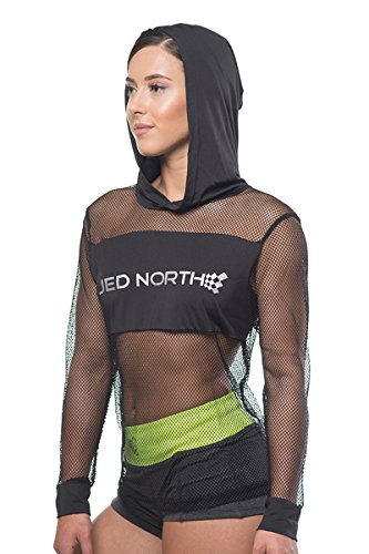 Jed North Women's Mesh Workout Hoodies Fishnet Jacket