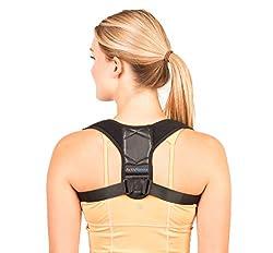 ActivHawks Geradehalter zur Haltungskorrektur für Damen und Herren - Rückenstabilisator | Haltungsbandage | Rückenstützgürtel | Rückenbandage für eine aufrechte Körperhaltung - Enthält E-Book, Tasche
