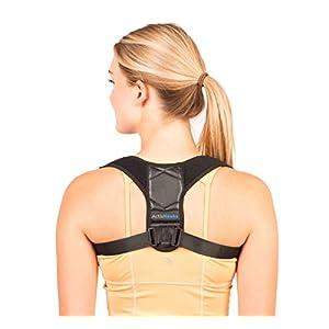 ActivHawks Geradehalter zur Haltungskorrektur für Damen und Herren – Rückenstabilisator | Haltungsbandage| Rückenstützgürtel | Rückenbandage für eine aufrechte Körperhaltung – Enthält E-Book, Tasche