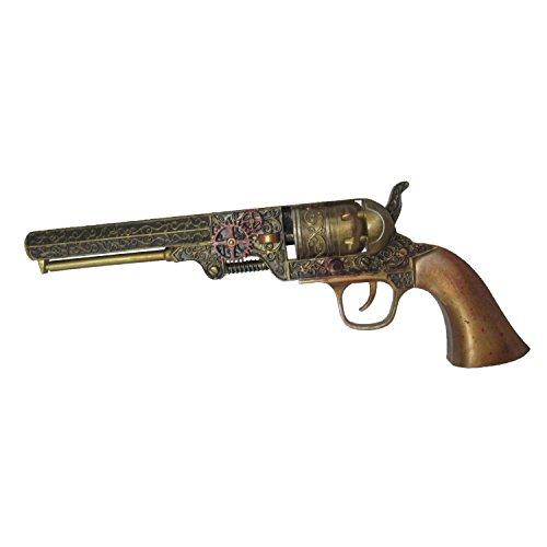 Viving Costumes Steampunk Revolver  25 5 x 9 5 x 4 cm