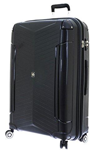 Koffer XL mit Schutzkanten Schwarz 76x53x31cm Hartschale Reise Trolley 267 225 Davidts Bowatex