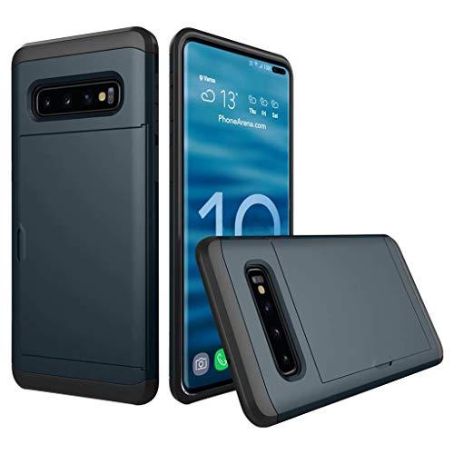 Das beste Zubehör für Samsung Galaxy S10 Plus !!! Beisoug 6,4 Zoll Brushed Hard PC + Silikagel-Fall-Kartenhalter (5. Ipod-wasser-fall Generation)