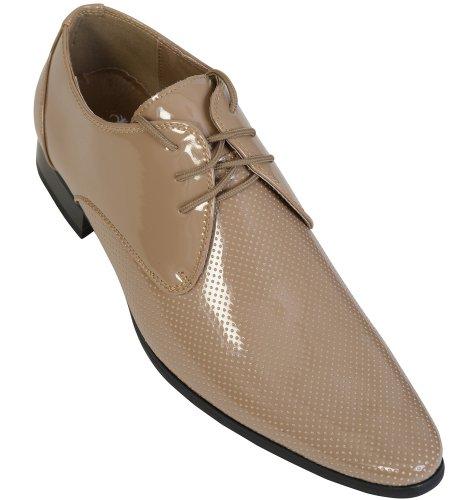 Voeut , Chaussures de ville à lacets pour homme Beige - Biege