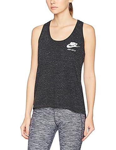 Nike Damen Vintage Gym Tanktop, Black/Sail, S