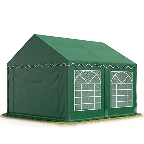 TOOLPORT 3x4 m Tente de Réception/Barnum Vert foncé Toile de Haute qualité 500g/m² PVC Economy INTENT24
