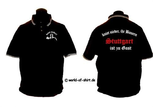 world-of-shirt Herren Polo Shirt Stuttgart Ultras kniet nieder SCHWARZ