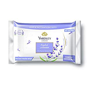 Yardley London English Lavender Sanitizer Wipes, 25gm(Pack of 10)