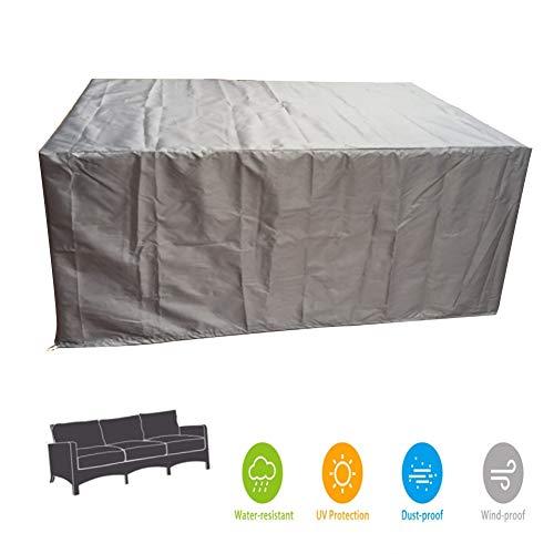 LSXIAO-Gartenmöbel Abdeckung Regenfester Schatten Anti-UV Würfel Festziehen Kann PU-Beschichtung Oxford Tuch Staubschutzhülle for Außengeräte, 24 Größen (Color : Gray, Size : 170x100x70CM)