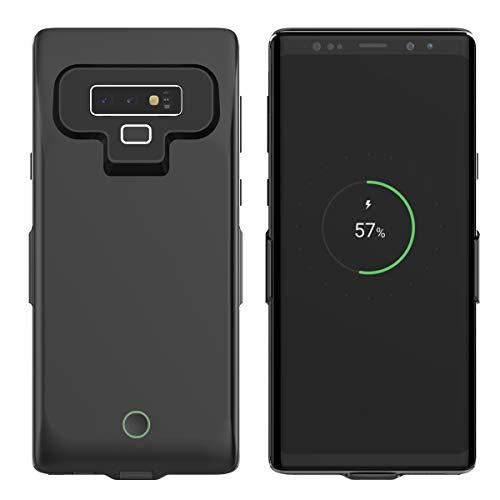 FugouSell Cover Batteria Samsung Galaxy Note 9, 7000mAh Power Bank Caricabatterie Portatile, Custodia Protettiva con Batteria Esterna per Samsung Galaxy Note 9(Nero)