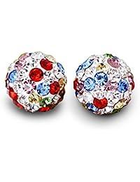 Pendientes de mujer de plata de ley 925 con Siete colores circonita