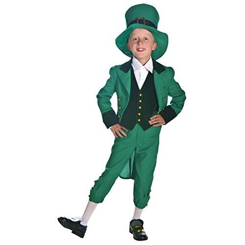 TIKENBST Kinder St. Patrick's Day Kinder Kostüm Kostüm Outfit Cosplay Performance Kleidung Kleinkind Kinder Geschenk,S