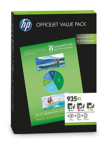 HP 935XL Office Value Pack, 75 Blatt/A4 (210 x 297mm) - Computer Hardware Poster