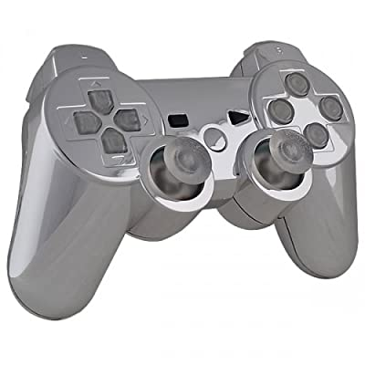 Playstation 3 Controller - Chrome with Clear Buttons - Official Sony Dualshock 3