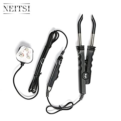 Neitsi® UK Plug Professional Hair Extension Heat Connector Iron Fusion Connector with Control Kit for Pre-Bonded Hair (Black 02)