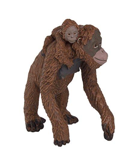 Safari Weiblich Orang Utan mit Baby (Hund Spielzeug Orang-utan)