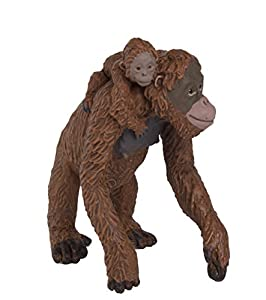 Plastoy - Orango femmina con cucciolo Safari ltd cod. 293529